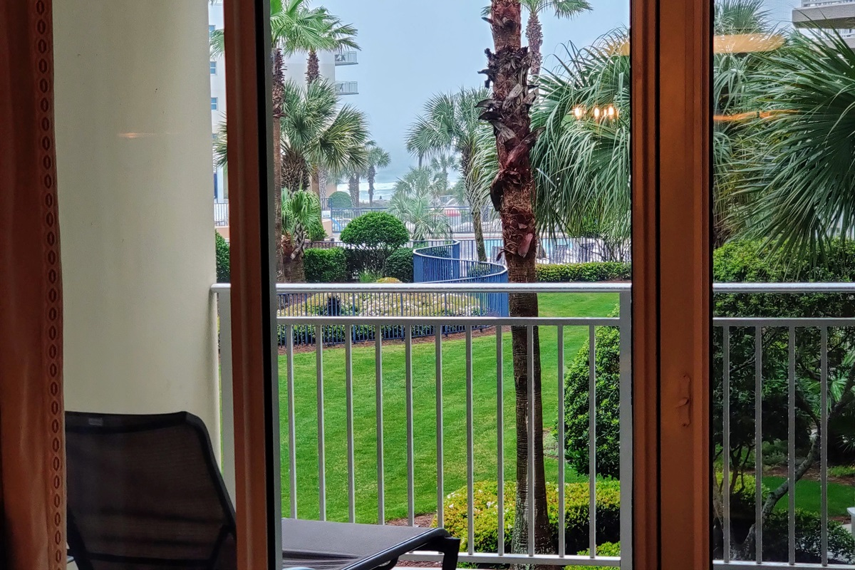 Ocean View from love seat in living room!