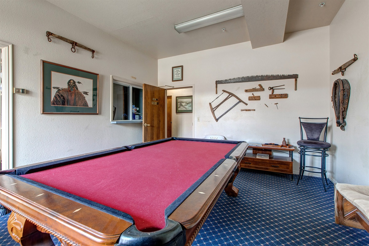 Pool table in communal area