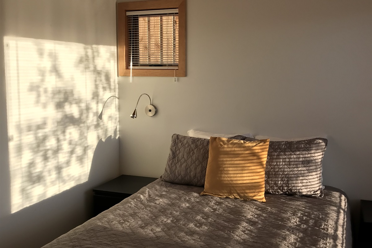 Mornings in the Aurora at Tre Søstre. There is one bedroom in the home.