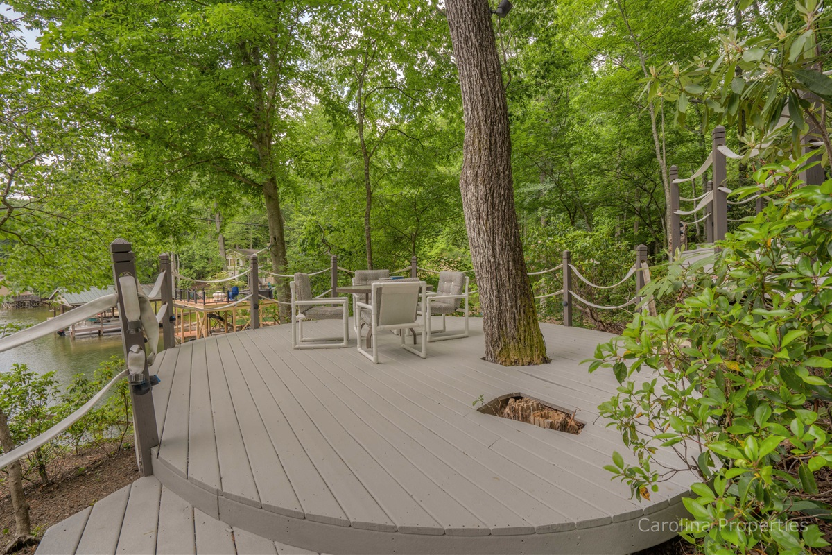 Additional view of relaxing deck seating