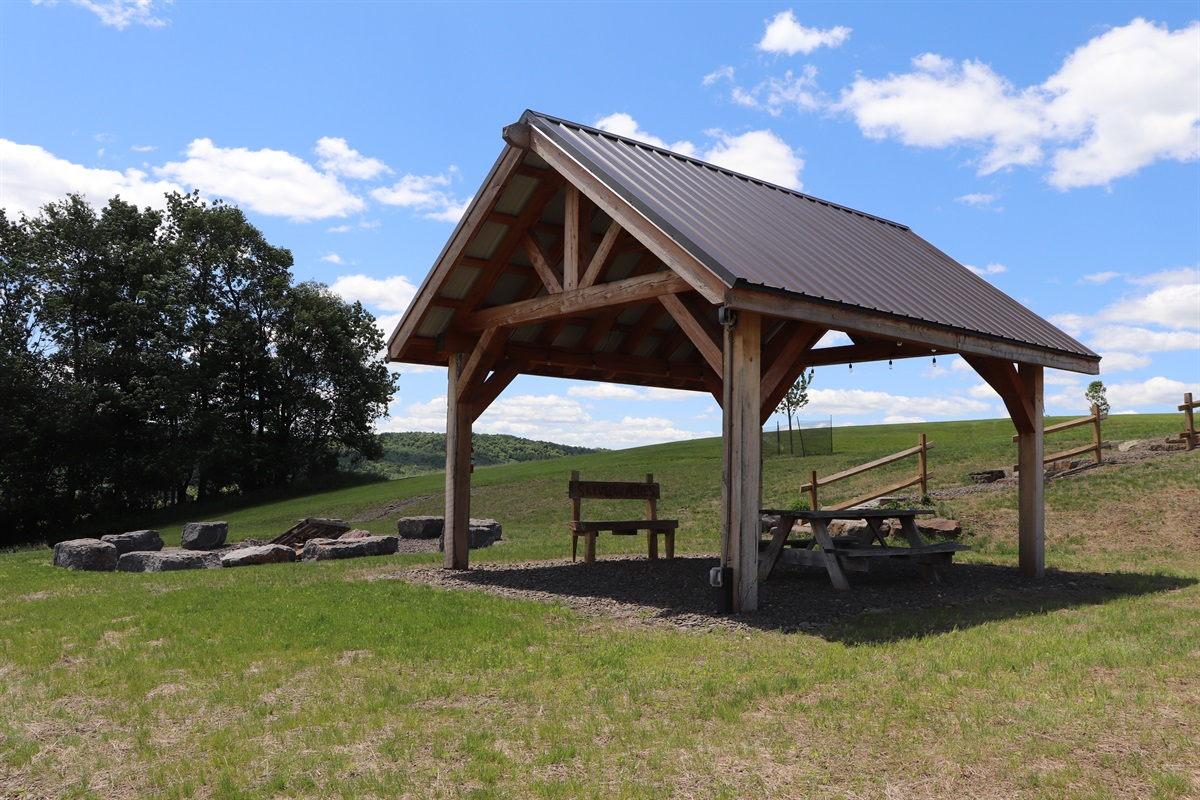 Pavilion and fire pit