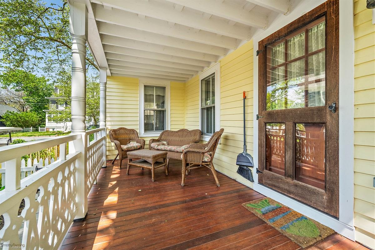 1st Floor-side mahogany porch