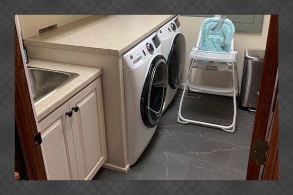 LAUNDRY ROOM! We include a washer/dryer on the first AND second floor. We do include two towels for each guest, sheets, blankets, pillows, etc.