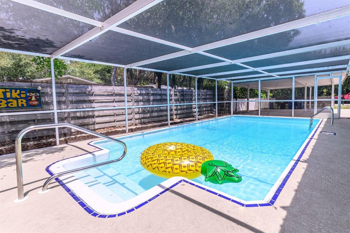 Large unheated lap pool