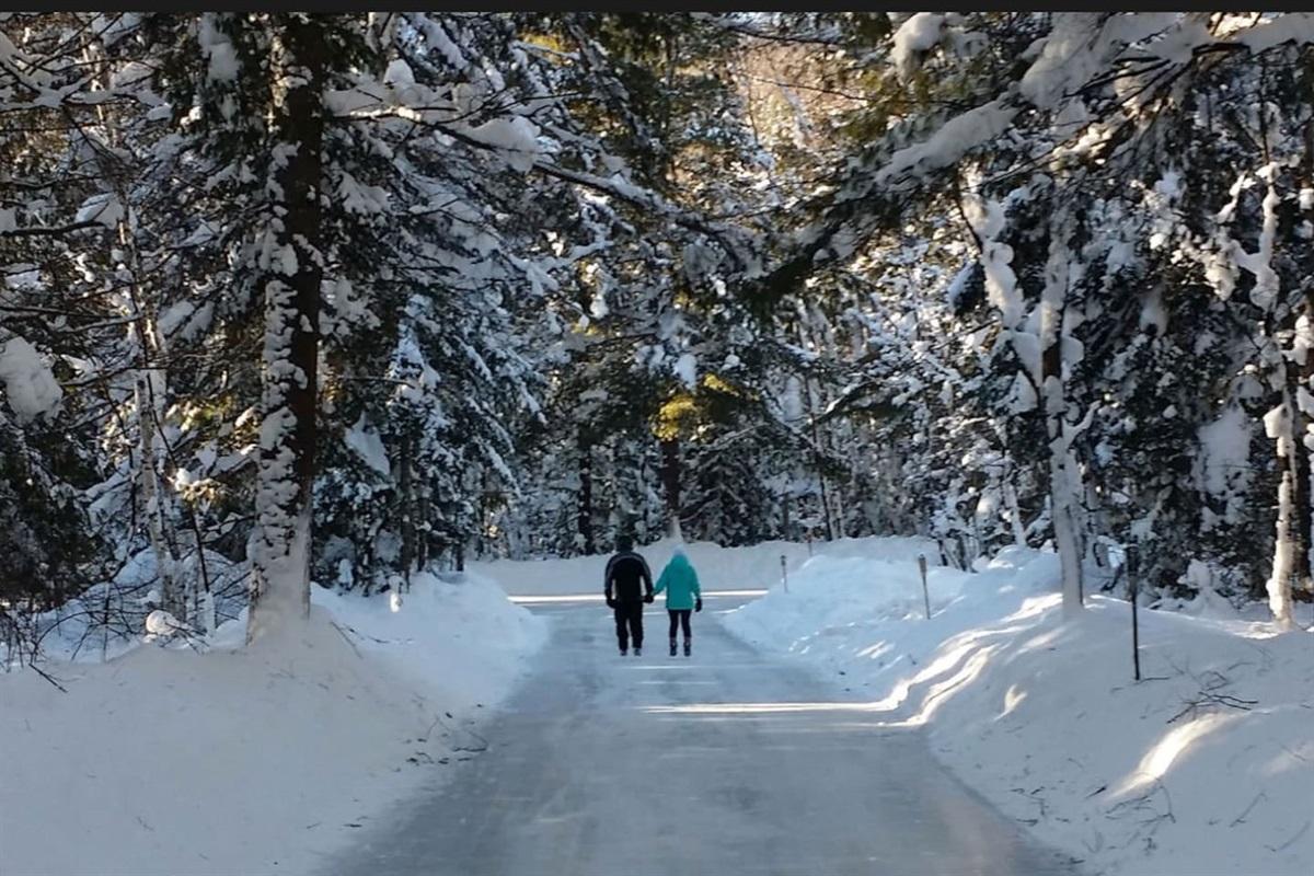 Skating trails at arrowhead park