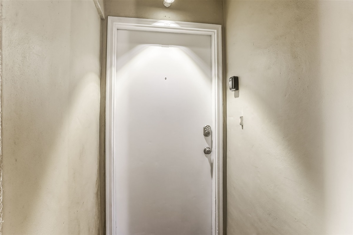 Lighted Front Door to Your Rental