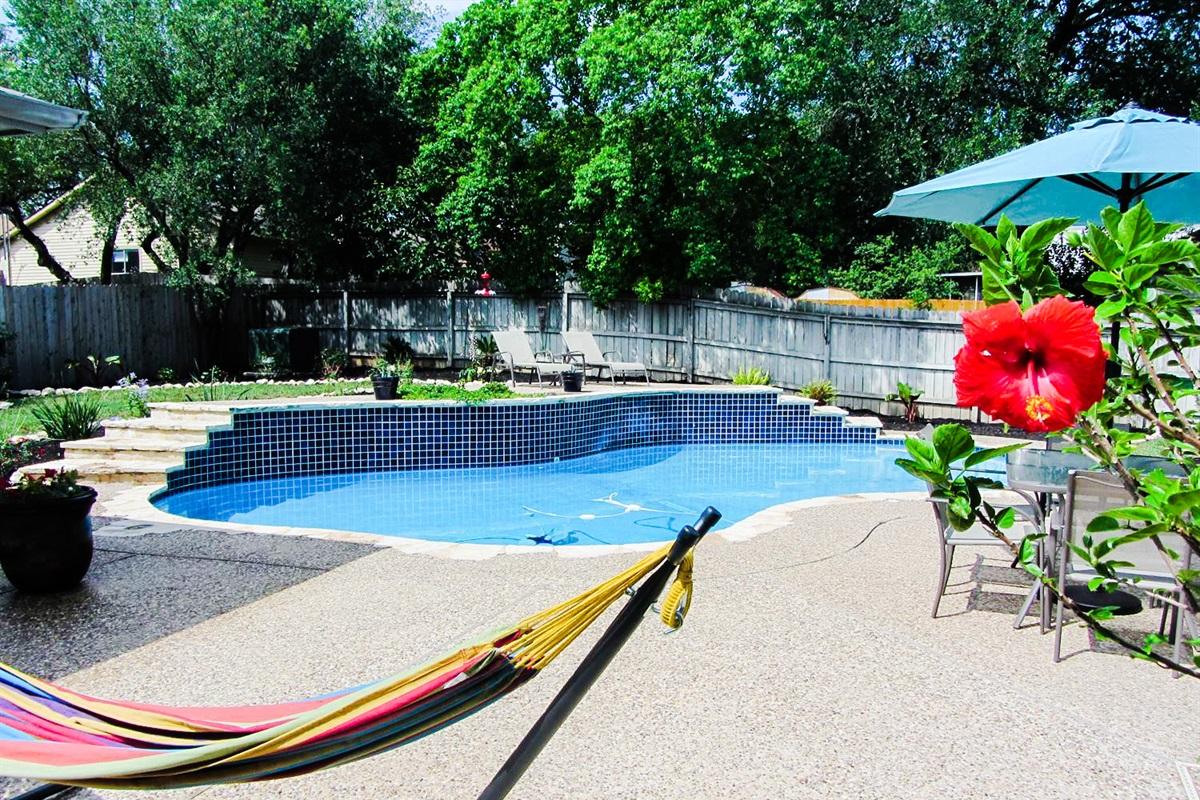 Backyard Pool Oasis w/ Cabana.