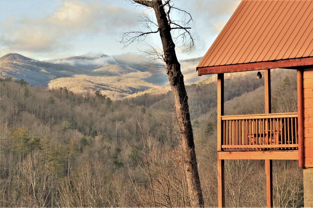 Direct mountain views at Take Me Away!