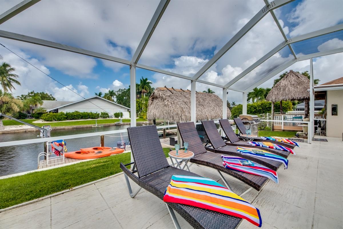 Comfortable sun chairs