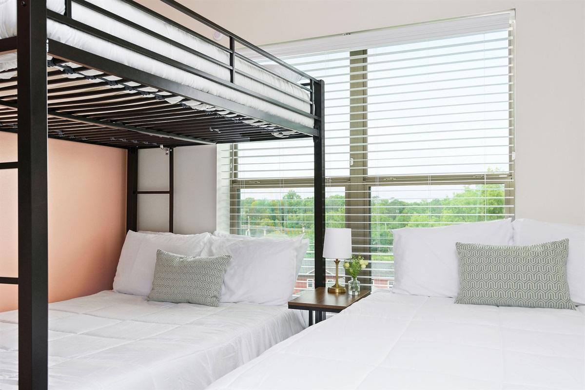 3 Memory foam beds in bedroom #2!