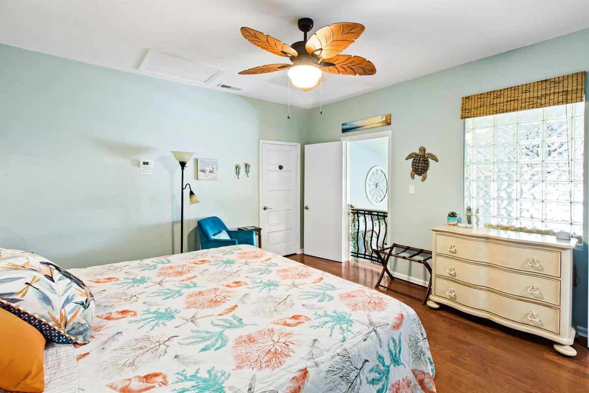 Closet in the bedroom holds a full compliment of beach items!  Chairs, beach cart, toys...everything you need for a fun day at the beach!