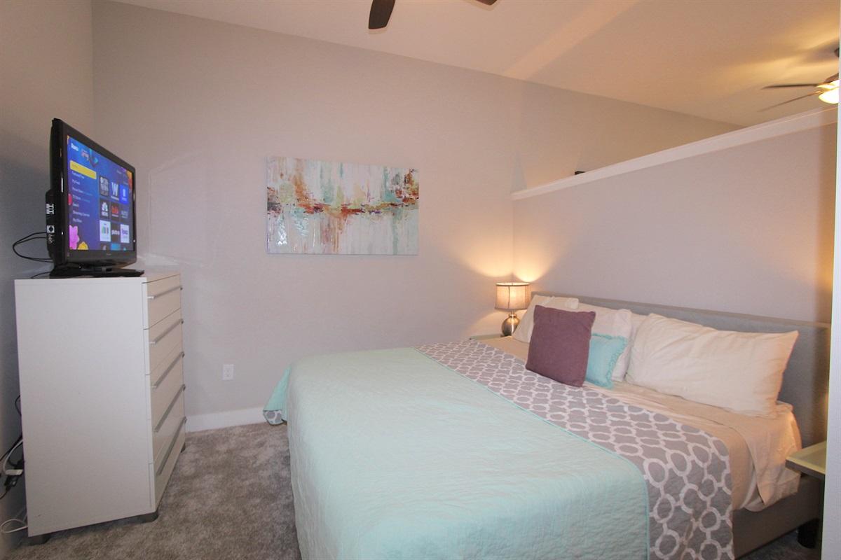 Master bedroom with Tuft & Needle king mattress.