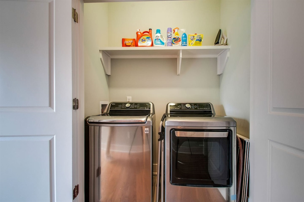 Laundry onsite with detergent supplied