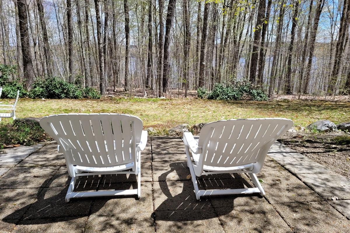 Outdoor furniture to enjoy surroundings