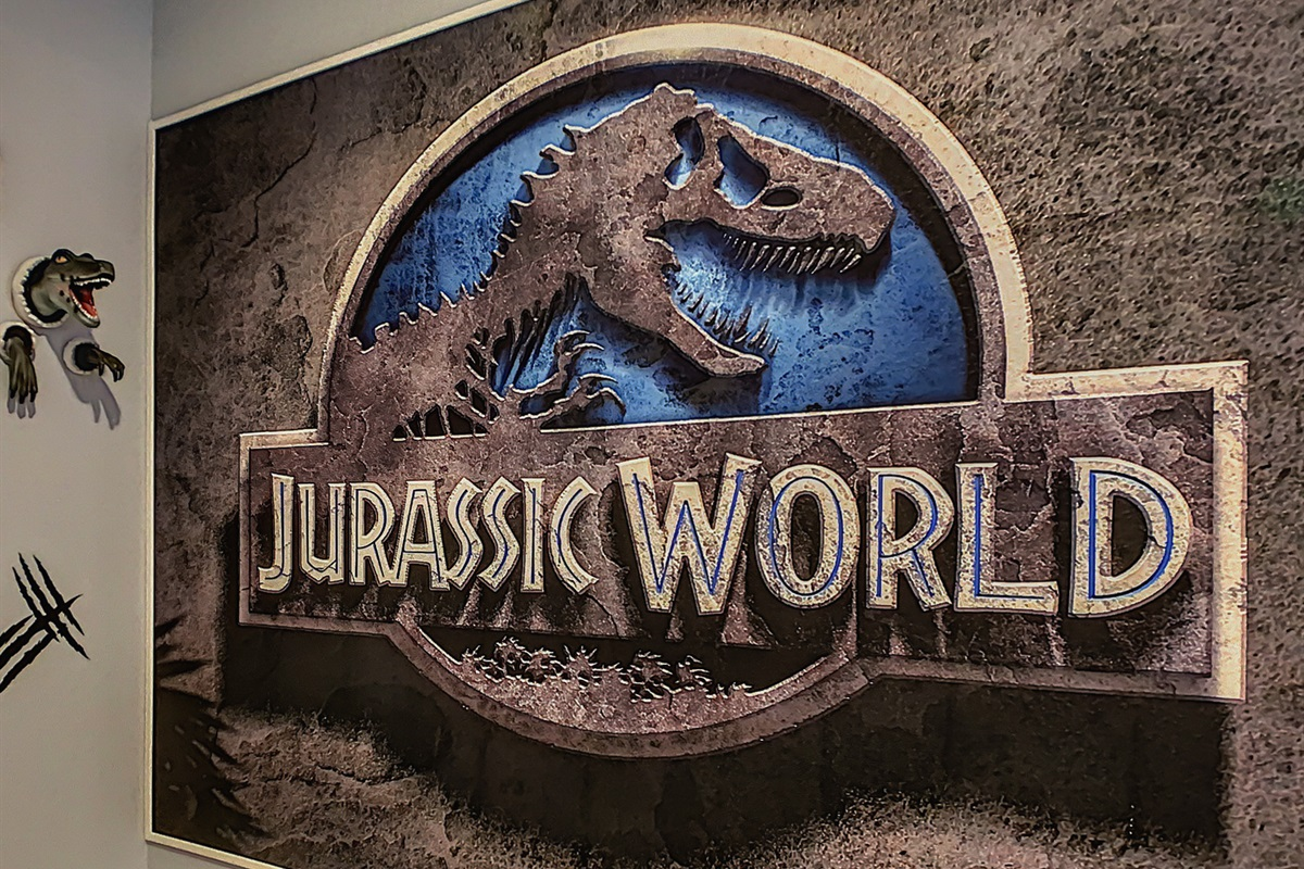 You Are Now Entering The Jurassic World Game Room!