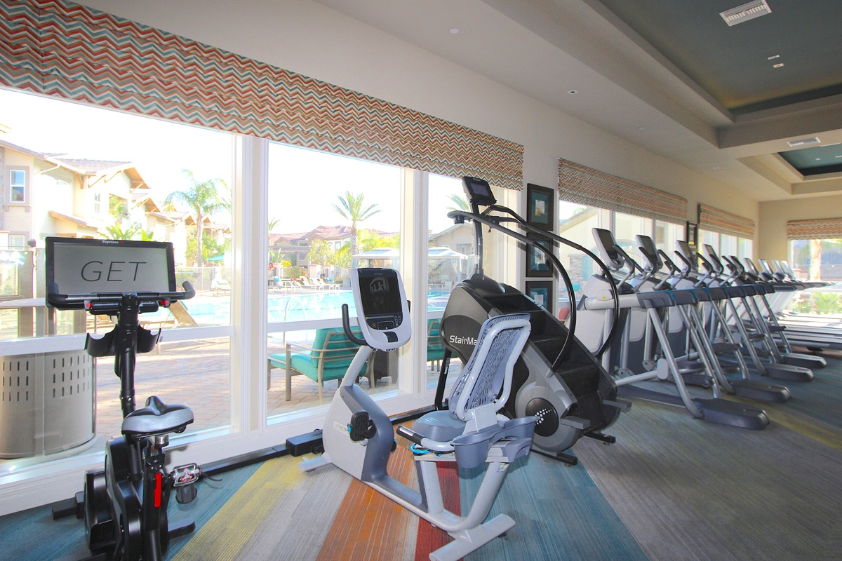 Stair climber, recumbent bike, treadmills
