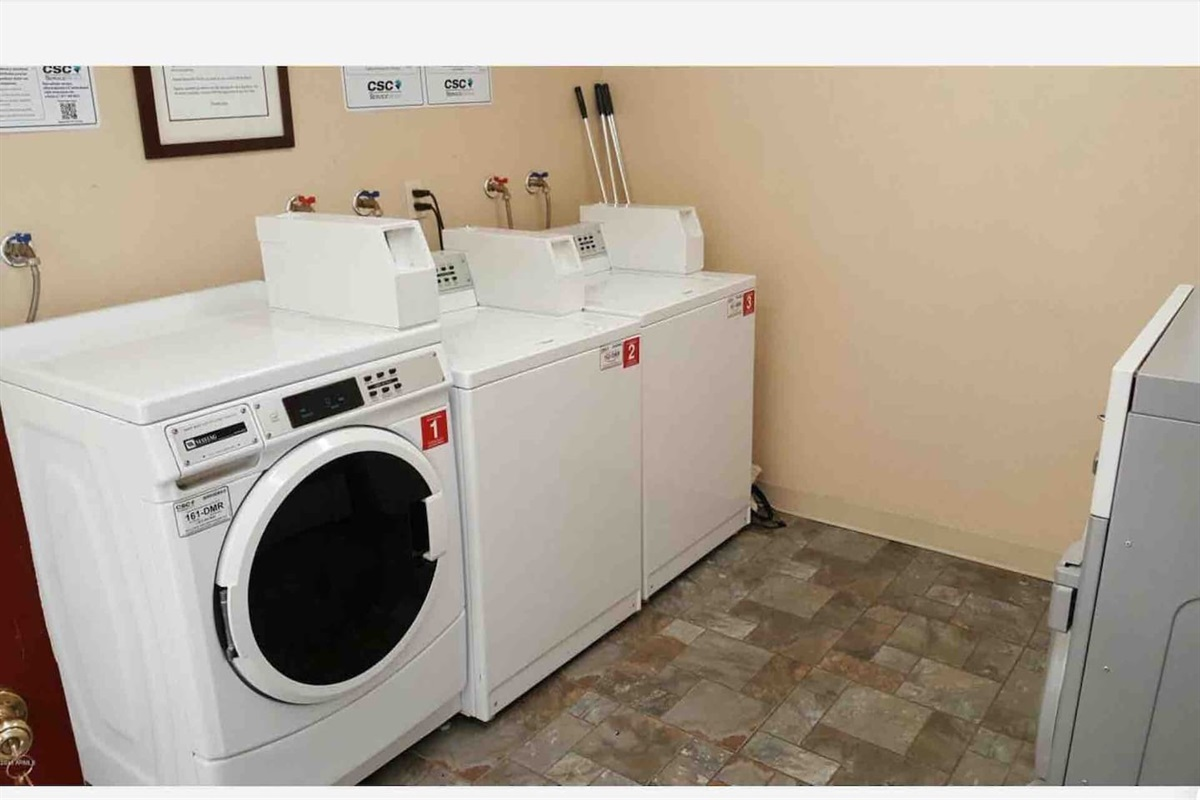 Washer and Dryer's are available for you in same building