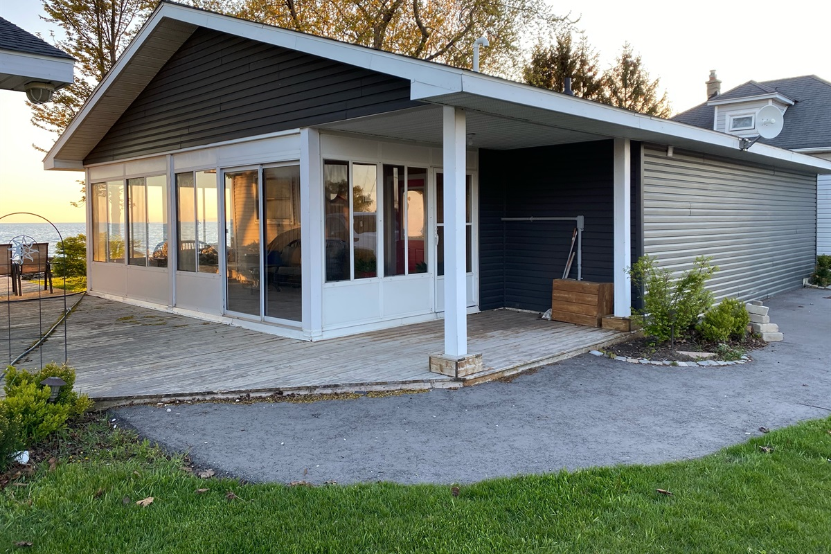 Beautifully renovated exterior of cottage
