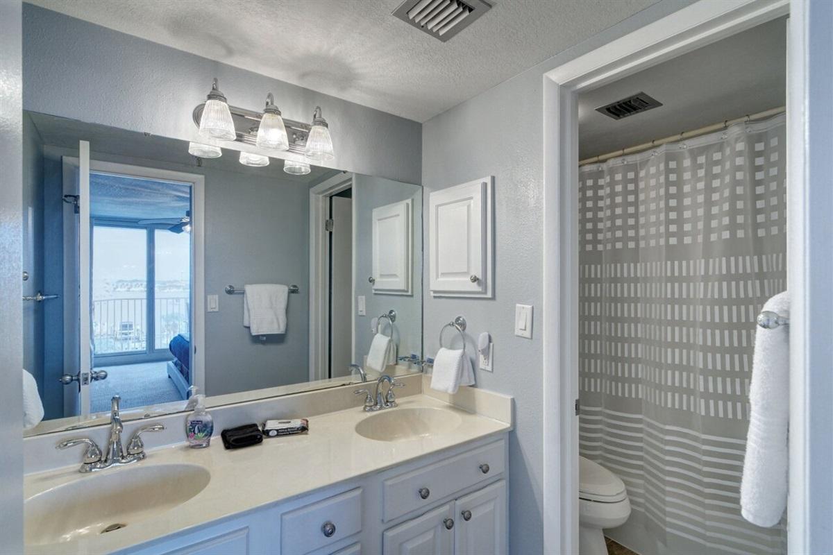 Double Vanity in 2nd bath
