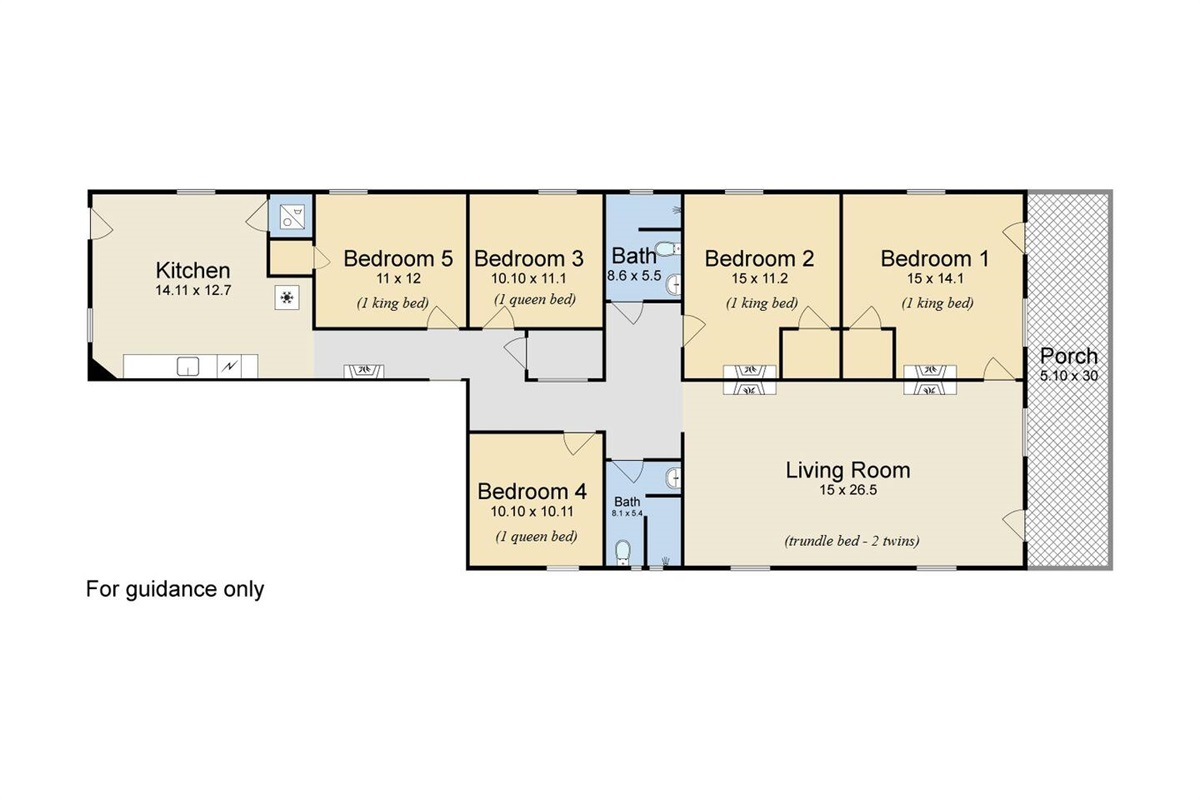 Floor plan for the main house - everything here included in the listing.