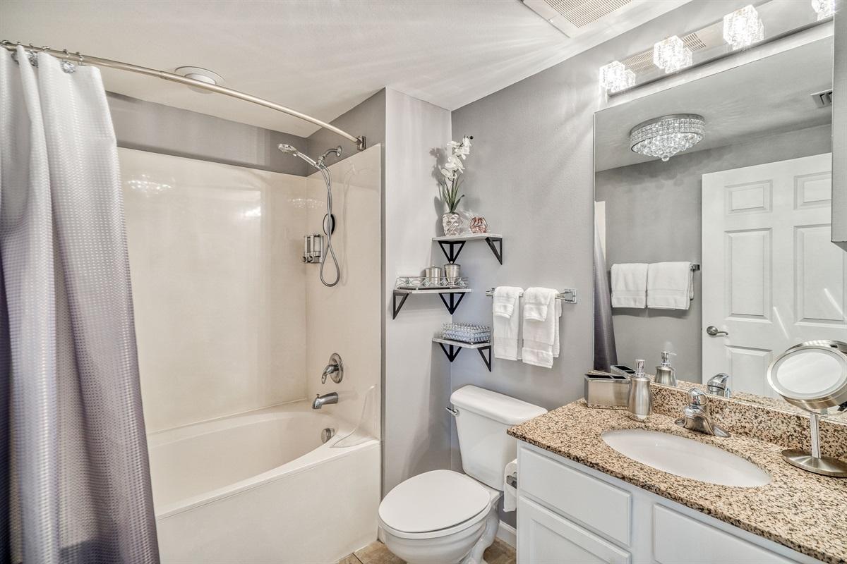 Master bathroom w/combo tub-shower