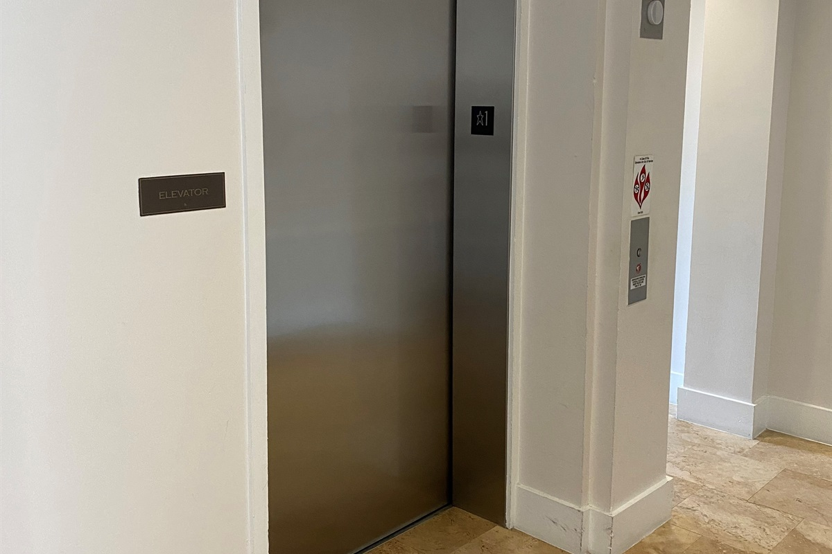 Take elevator to you OWN FLOOR