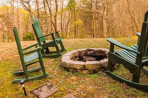 Rockers by the fire pit
