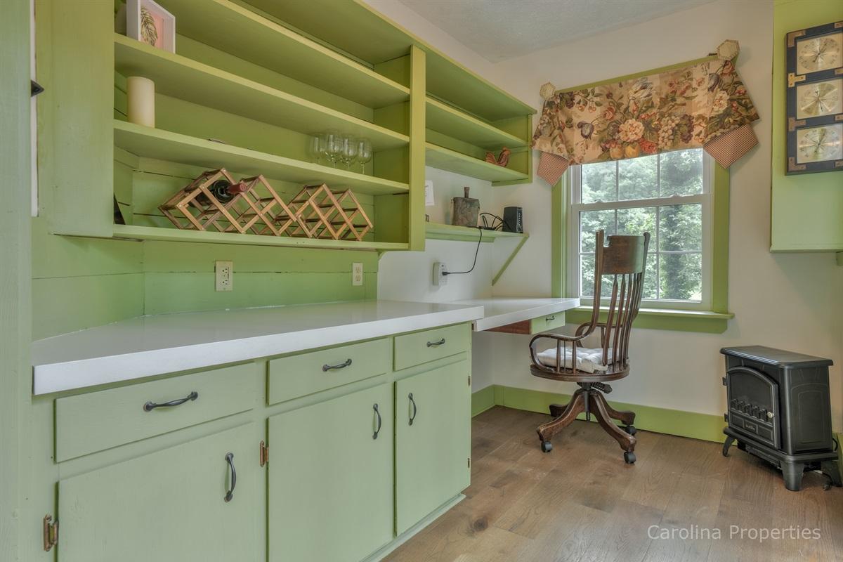 Lower level desk/work area