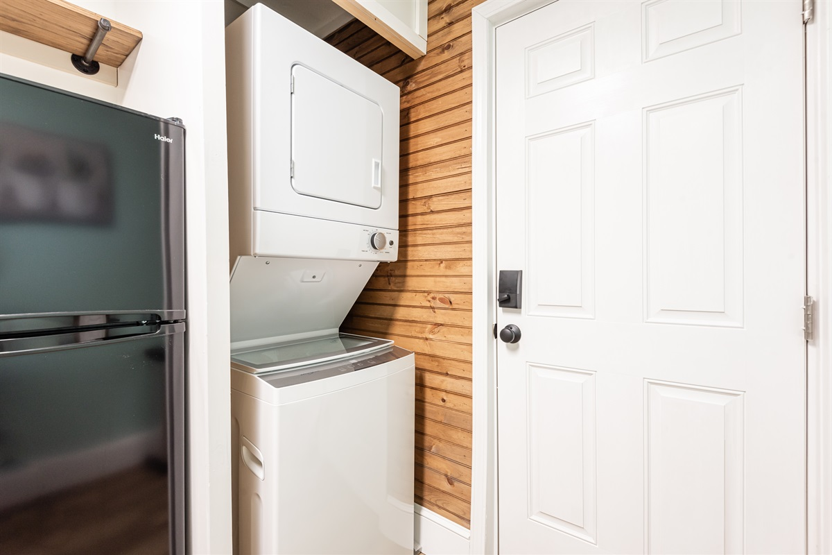 Washer/Dryer with detergent provided