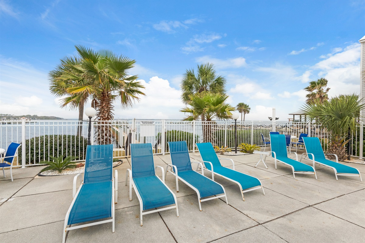Lounge chairs for a relaxing day poolside
