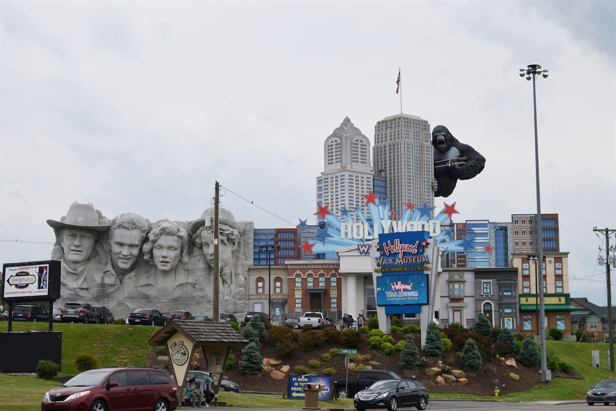 Attractions on the Pigeon Forge park way are only located a mile away!