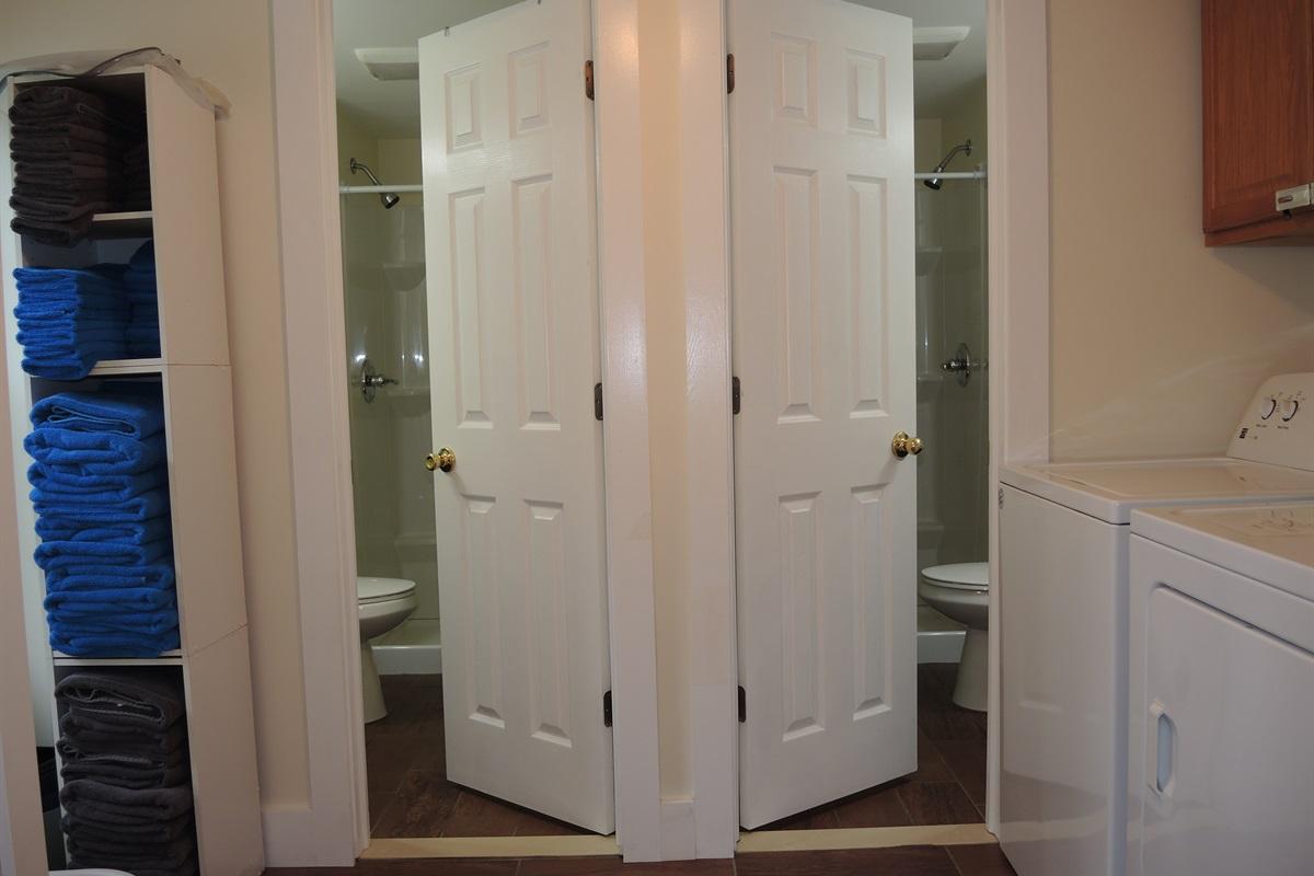 1st Floor pair of bathrooms/laundry