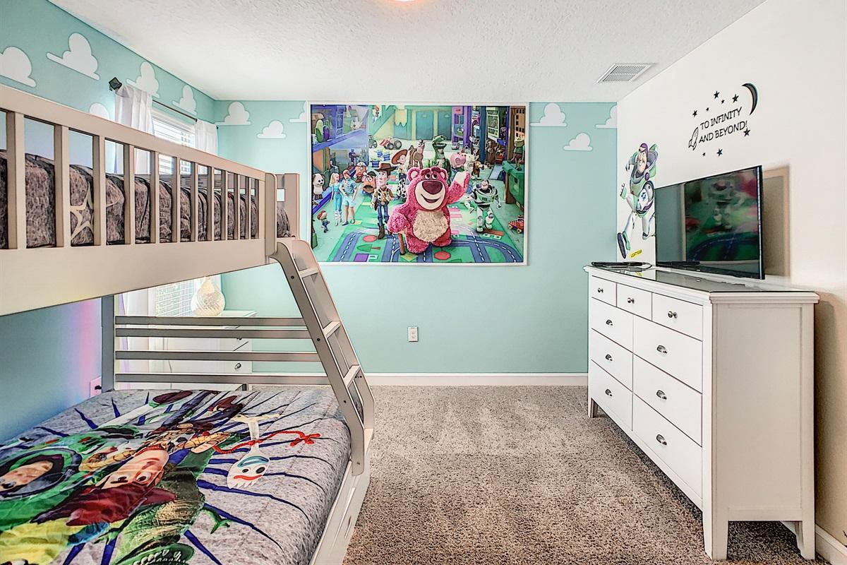 Bedroom #3-2nd Floor-Bunk Beds-Double On Bottom