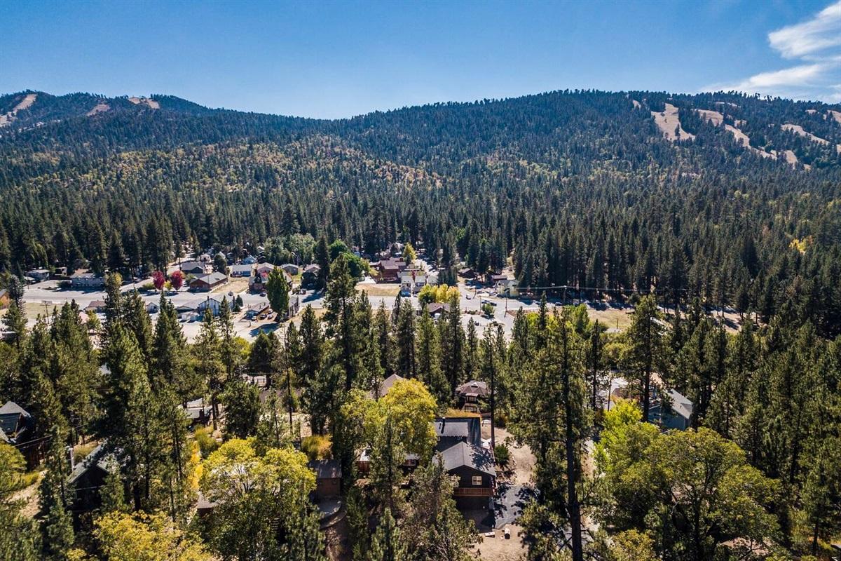 Fox Haus offers beautiful rustic mountain views.
