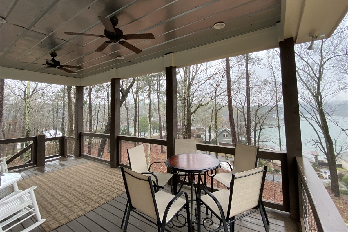 Back Deck offers a 190 degree view of Lake Martin, AL.