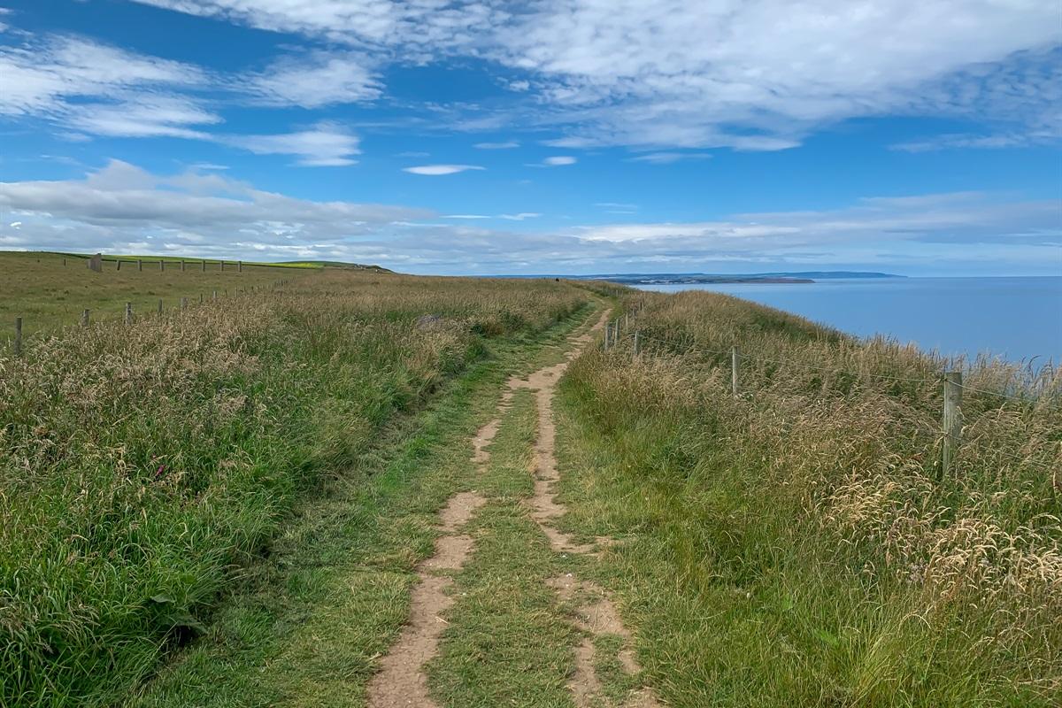 A lovely walk along the coast.