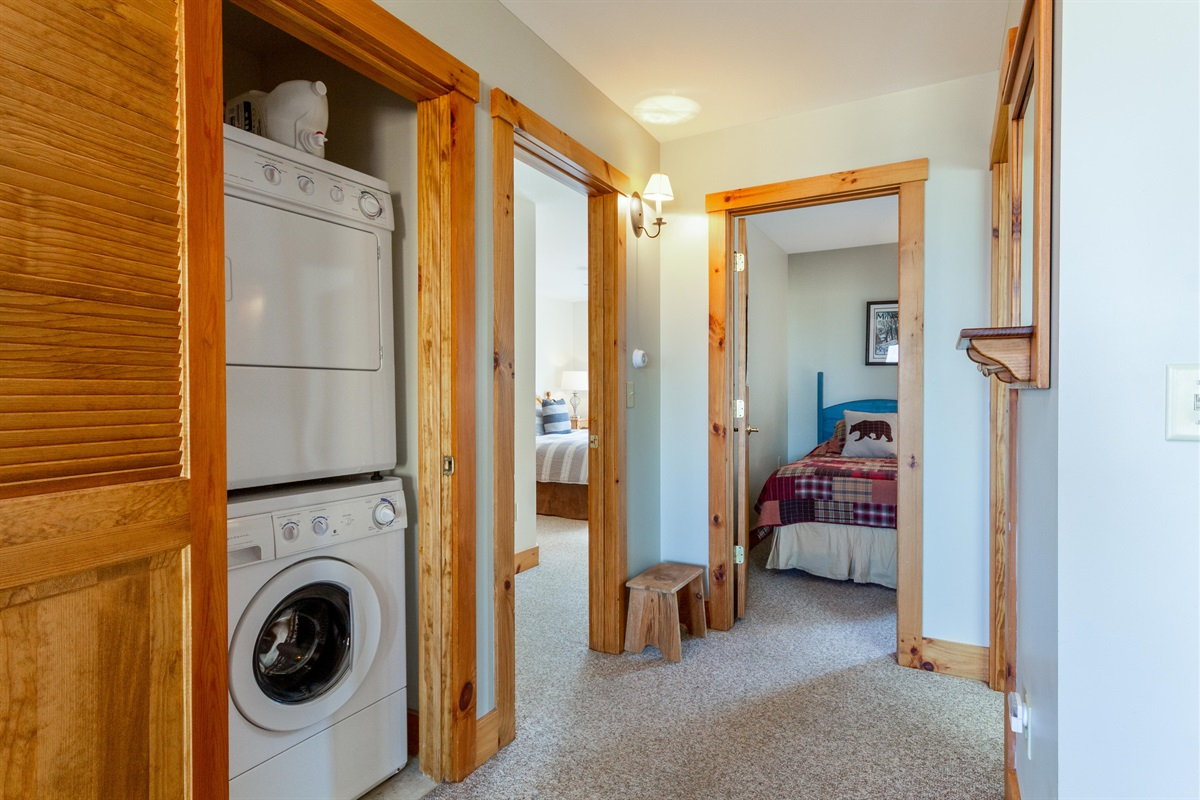 Full size washer and drier.