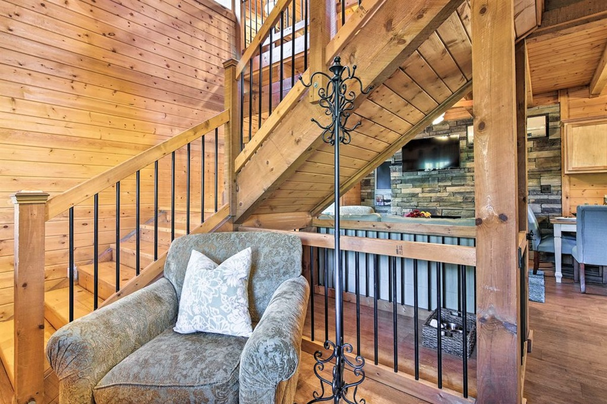 Head upstairs to find the loft.