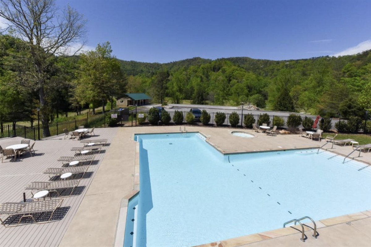 Pool at the Wild Laurel Clubhouse inside Laurel Valley