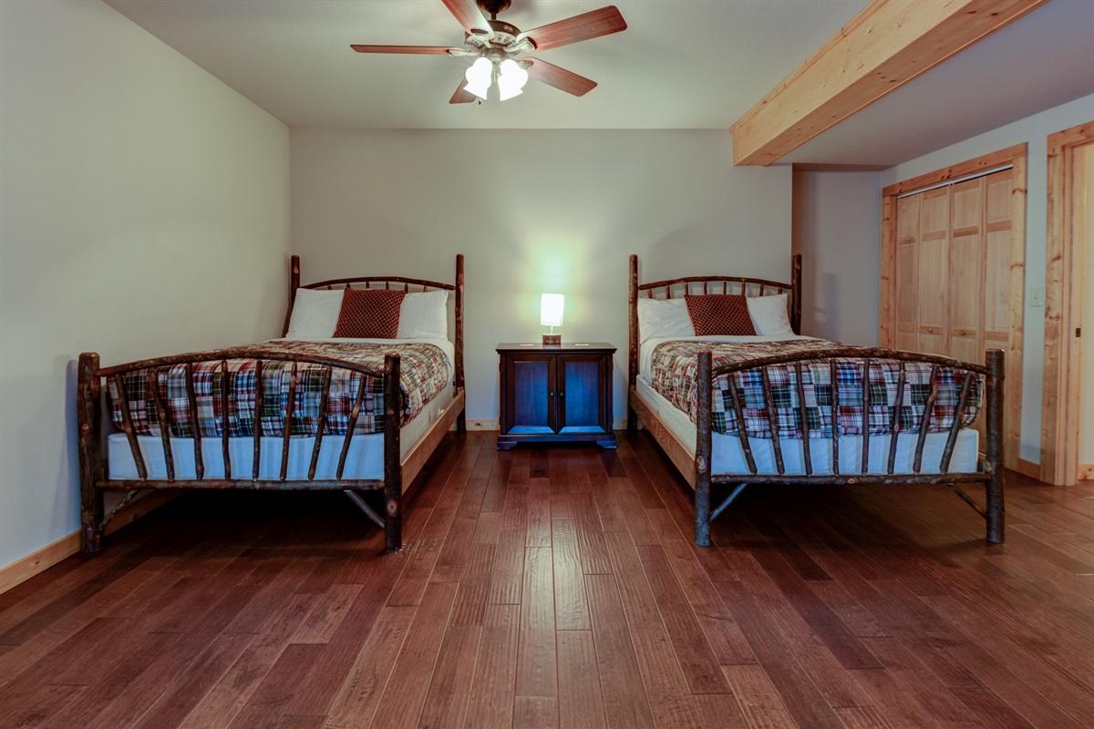 Sleeping area on lower level