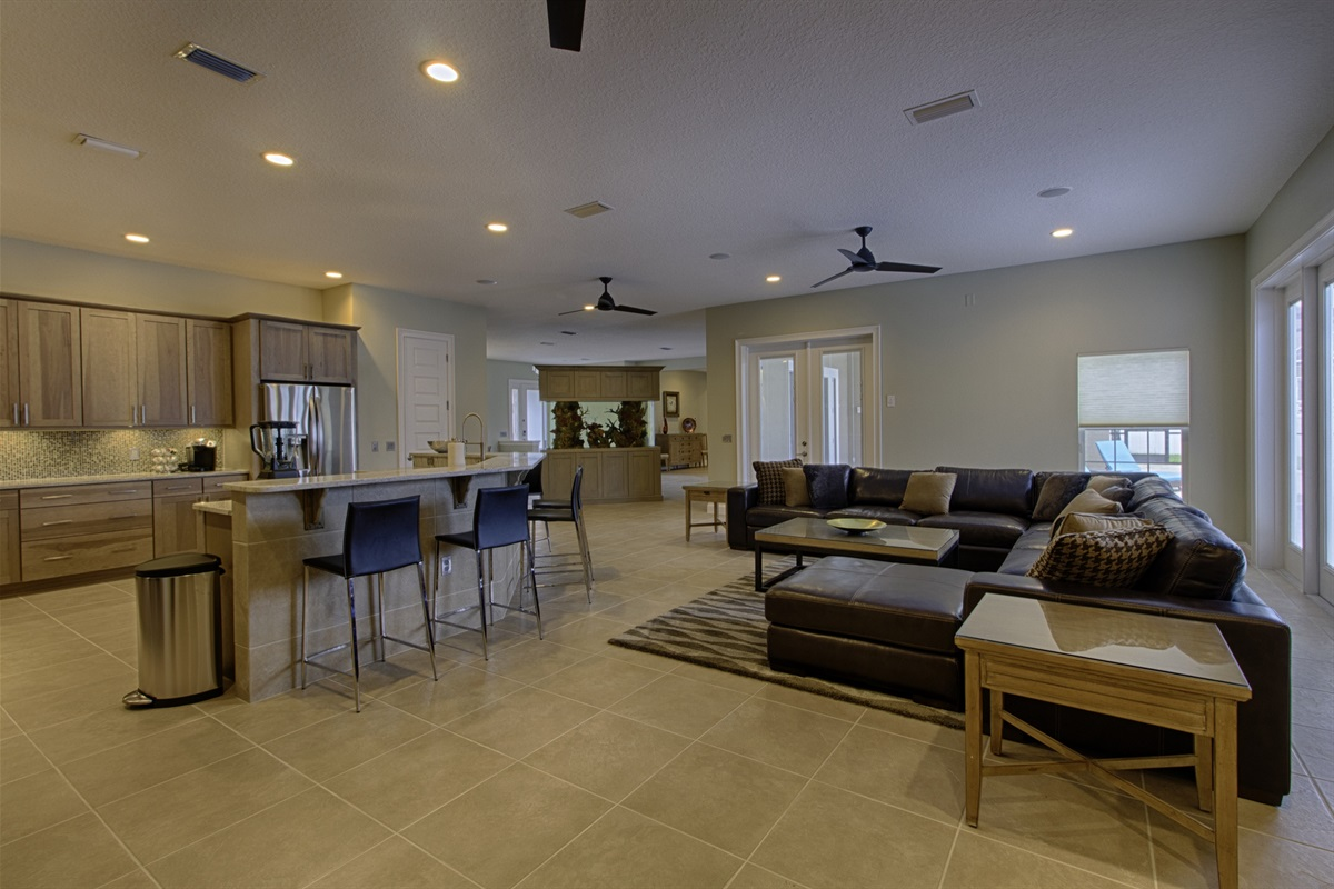 Massive Open Plan Kitchen and Family Room