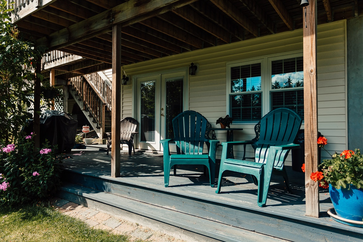 Private porch.