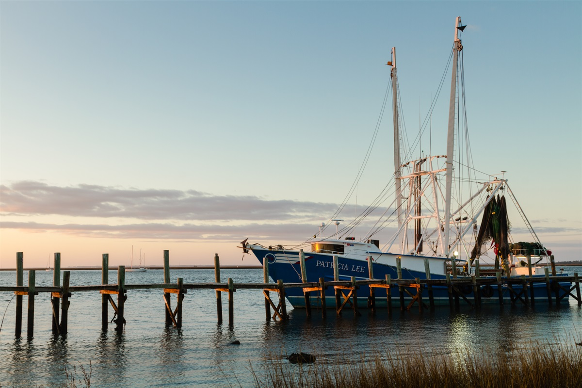 Yes, we have real Shrimp Boats!