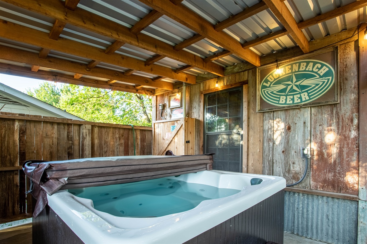 Soak in one of our TWO hot tubs!