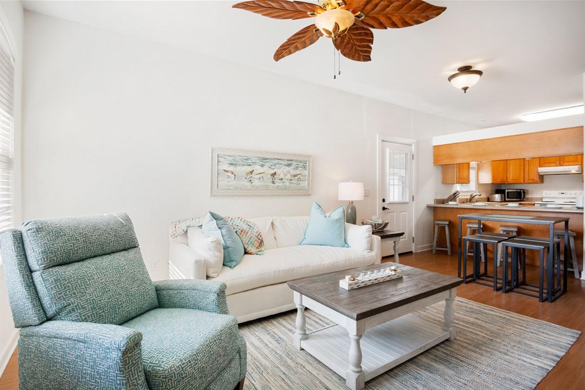 roomy living area