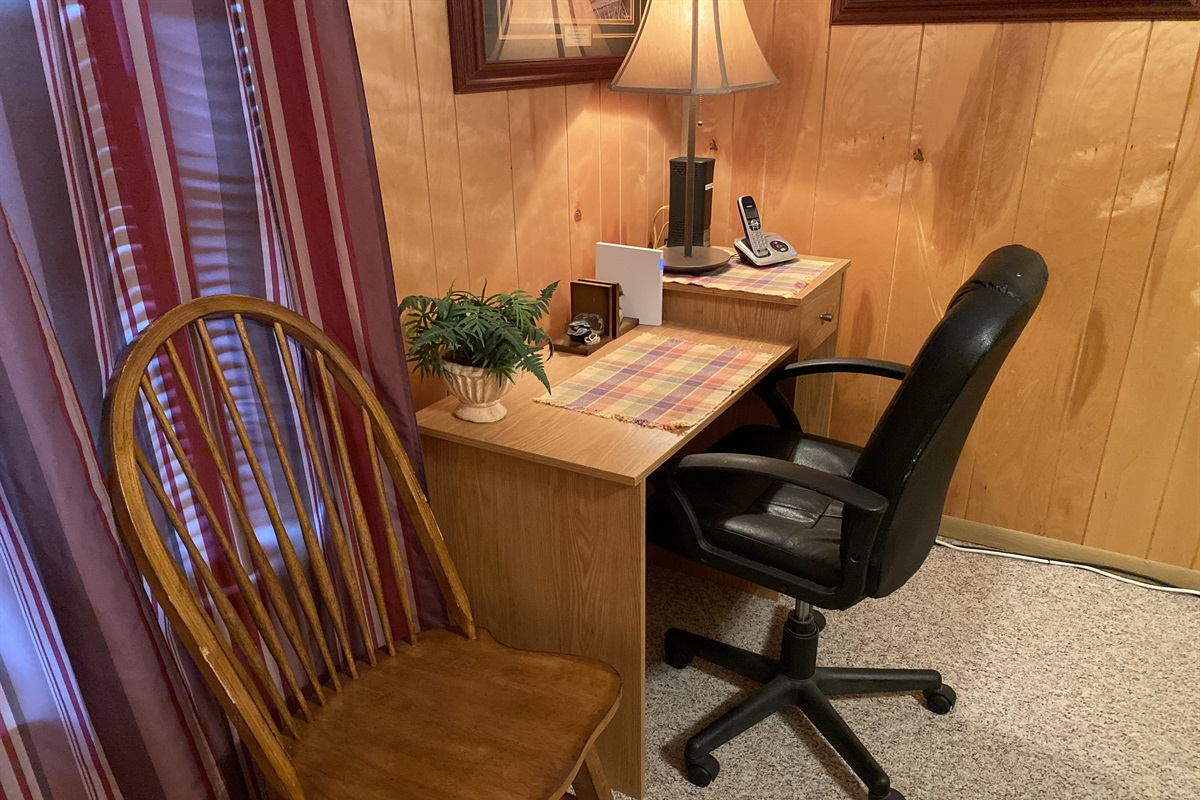 Workspace in Bedroom 1