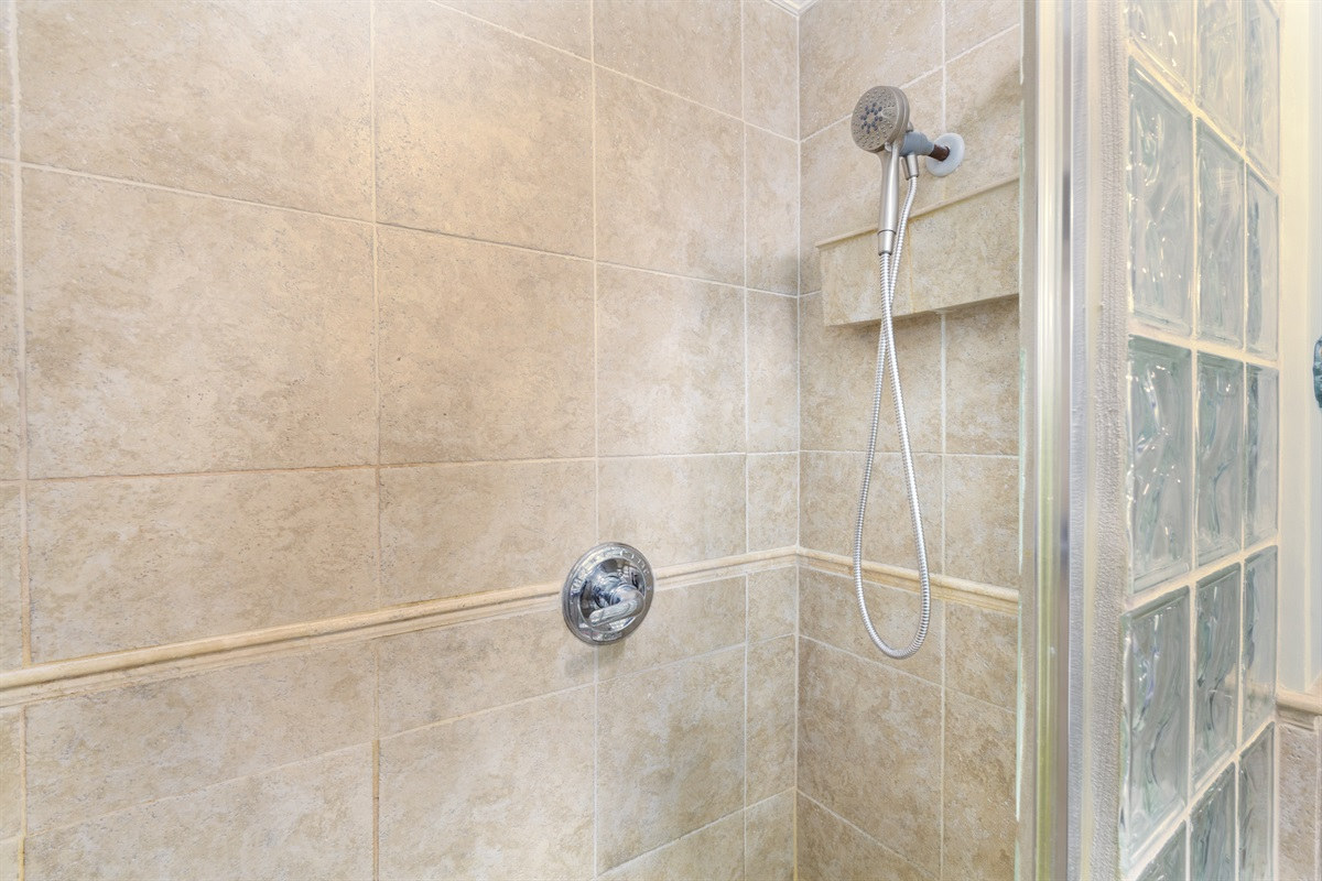 right side of the step-in shower