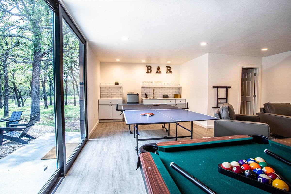 Pool & Ping Pong Table