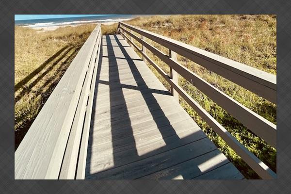 Boardwalk to beach.