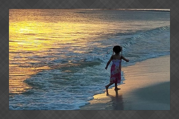 Play in the sand and enjoy God's beauty.